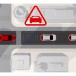 Predictive Forward Collision Warning system uses a sensor in the front of the vehicle to analyze the speed and distance to the vehicle directly ahead, as well as a vehicle traveling in front of that one.