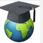 Globe with mortarboard