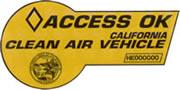 HOV lane sticker